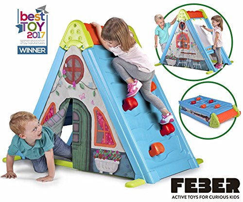 51%2BKDbJVGdL - Feber Play & Fold Activity House 3in1 – Playset - Easy to Store – Indoor and Outdoor – for Kids from 2 Years Old