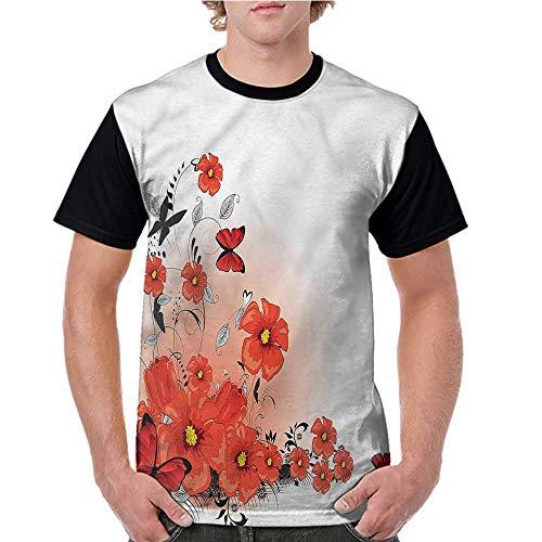 Casual Blouses Tops,Poppy,Cartoon Poppy Fresh Art S-XXL Women Short Sleeve T-Shirt