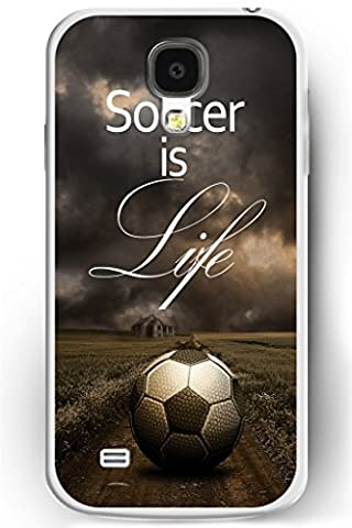 Galaxy S4 Case, Samsung Galaxy S4 Case Slim Fit Hard Back Cover for Galaxy S4 Soccer is Life (Samsung Galaxy S4 Cases Kpop)