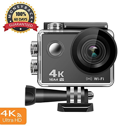 Cheap 4K Action Camera, 16MP WiFi Anti-Shake Waterproof Sports Camera with high-tech Sensor, 170 Degree Ultra Wide Angle 2.0 Inch LCD Screen