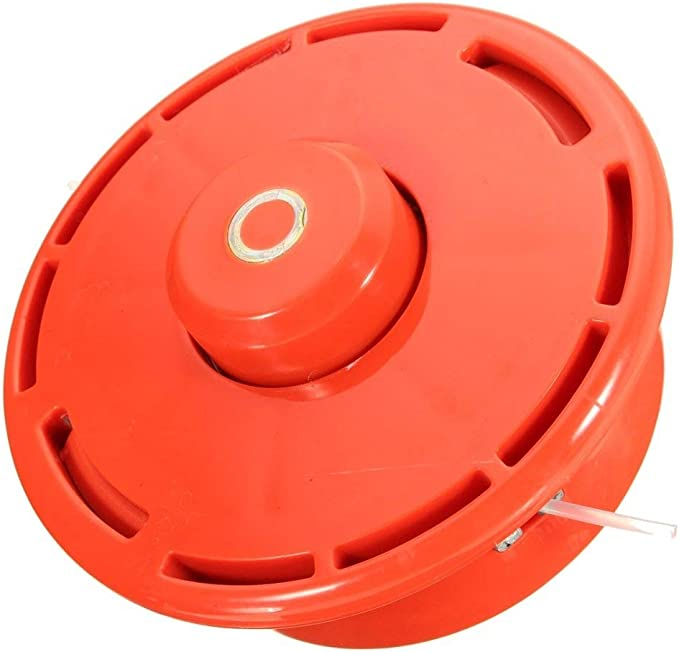 LUCKYHH Cabezal de desbrozadora para Honda All GX25 GX35, cortador de césped, gasolina, eje recto, ajuste universal, M10 x 1.25 LH rojo