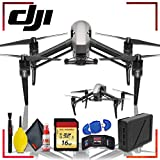 DJI Inspire 2 Quadcopter with Cinema DNG and Apple ProRes Licenses + 16gb Memory Card Bundle + Extra Battery + Cleaning Kit