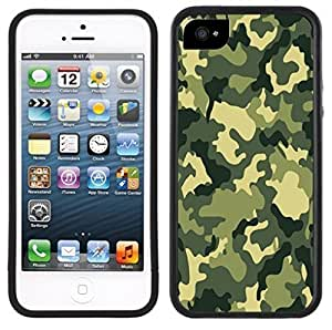 LJF phone case Green Camouflage Handmade iphone 6 plus 5.5 inch Black Case
