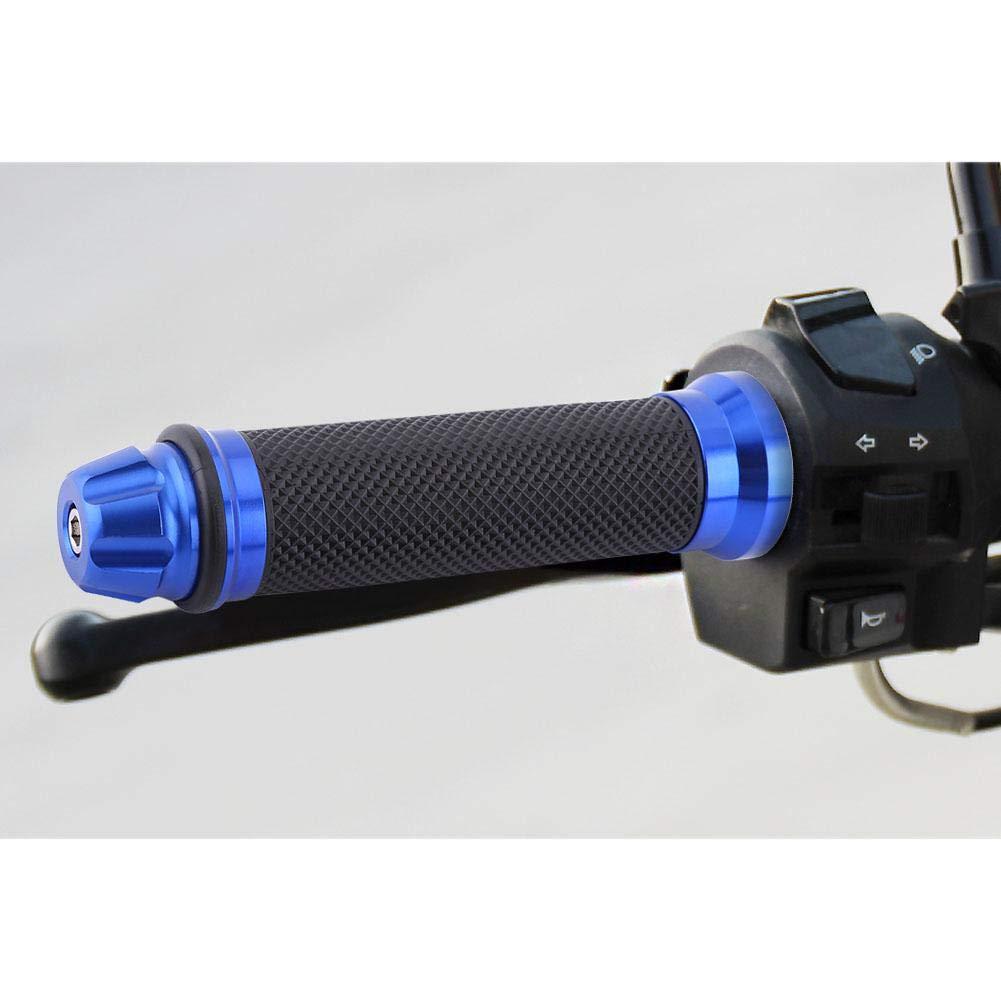Titanium Manopole da 7//8per manubrio per moto Manopole in alluminio con impugnatura in gomma CNC universale per biciclette da bici da bar