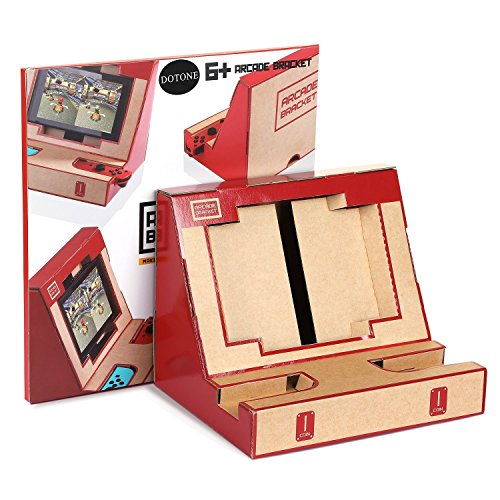 Nicam Foldable Cardboard Game Holder Stand for NS Nintendo Switch Variety kit, DIY Arcade Bracket Game Joy-con Garage
