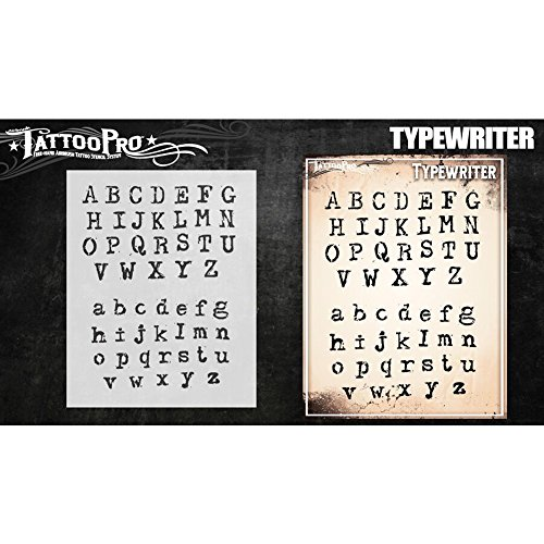 Tattoo Pro Stencils - Typewriter Font