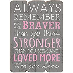 "MODE HOME 11.81""X15.75"" Decorative Wooden Wall Signs Vintage Wooden Wall Plaque Signs With Quotes Sayings (ALWAYS REMEMBER)"