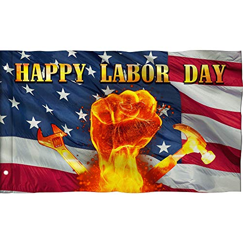 Happy labor day flag Large Outdoor flag, 3X5 FT,vivid and