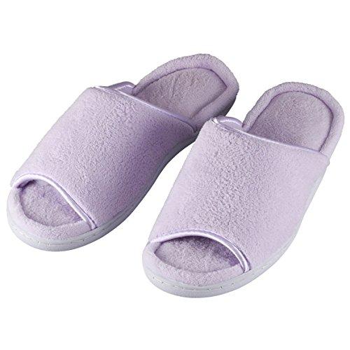 Easycomforts Åpen-tå Terry Tøffel Lavendel