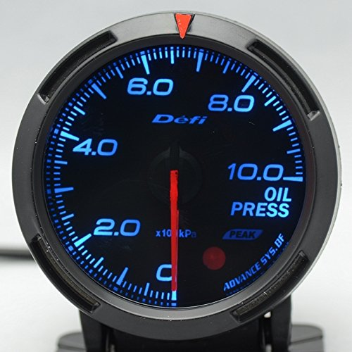 Defi Link Gauges (Defi DF06601 Racer Fuel/Oil Pressure Gauge, Blue, 52mm)