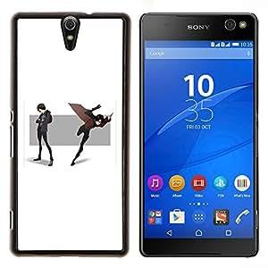 Jordan Colourful Shop - CARTOON COMIC SCENE HERO MASK CAPE FLYING For Sony Xperia C5 Ultra - < Personalizado negro cubierta de la caja de pl????stico > -