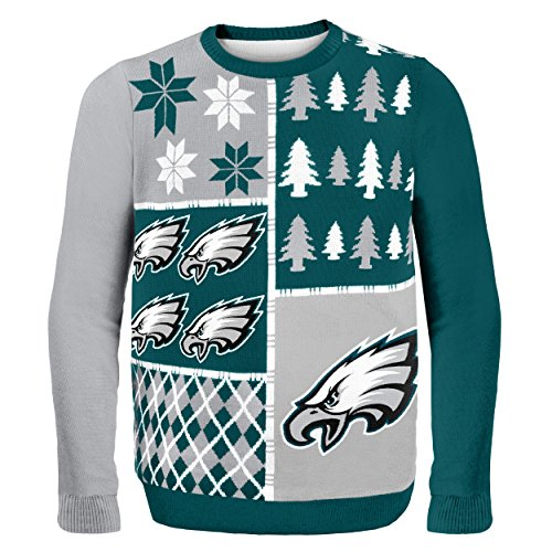 Philadelphia Eagles Busy Block Ugly Sweater Double Extra Large