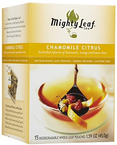 Mighty Leaf Tea Tea Chamomile Citrus, Whole Leaf Pouches, 15 ct (Tea Mint Leaf Mighty)