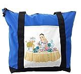 Lunarable Alice in Wonderland Shoulder Bag, Famous Scene, Durable with Zipper