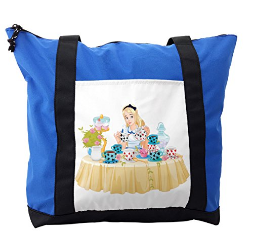 Lunarable Alice in Wonderland Shoulder Bag, Famous Scene, Durable with Zipper by Lunarable