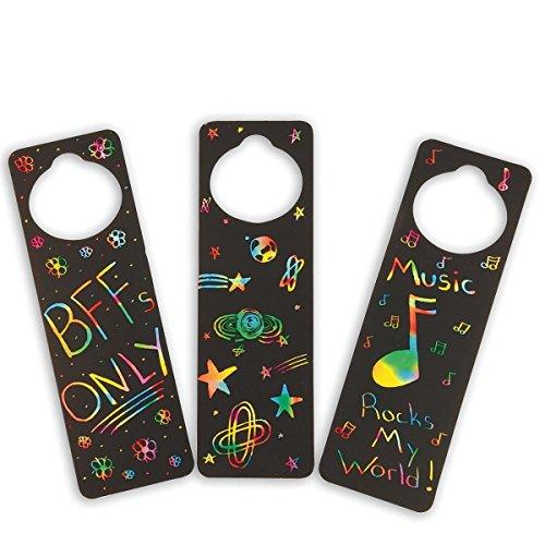 S&S Worldwide Scratch Door Hangers Craft Kit (makes 48)