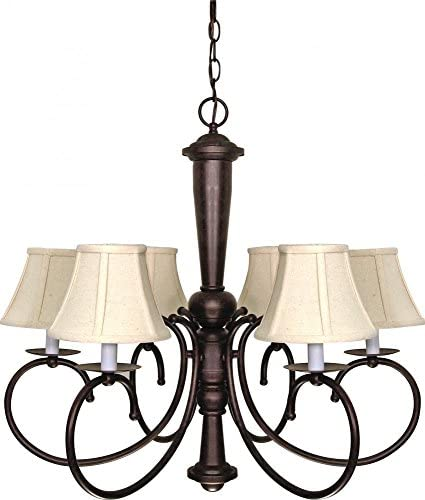 Nuvo Lighting 60 101 Six Light Chandelier, Bronze Dark