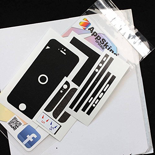 AppSkins Folien-Set iPhone 5/5s/ SE Metal black