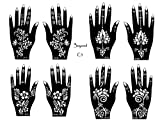 Tattoo Stencil / Template 8 Sheet Set Pretty New Designs Suitable for Hand C3
