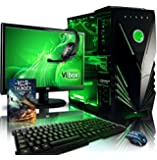 "VIBOX Destroyer Water Cooled Desktop Gaming PC Package 9 - with Windows 10 OS, WarThunder Game Bundle, 22"" Monitor, Gamer Headset, Keyboard & Mouse (4.2GHz AMD FX Eight Core Processor, Radeon R9 380 Graphics Card, 120GB SSD Solid State Drive, 1TB Hard Drive, 16GB RAM)"