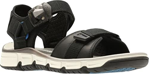be66865a0b98 Clarks Men s Explore Part Walking Sandal Black Nubuck Leather Size ...