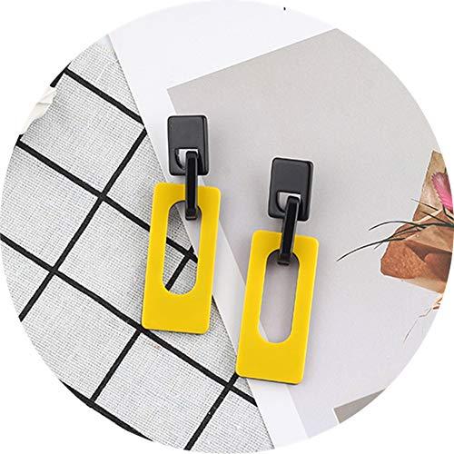 TOKO Geometric Rectangle Acrylic Big Long Dangle Earring Charm Earring Women Girls - ()