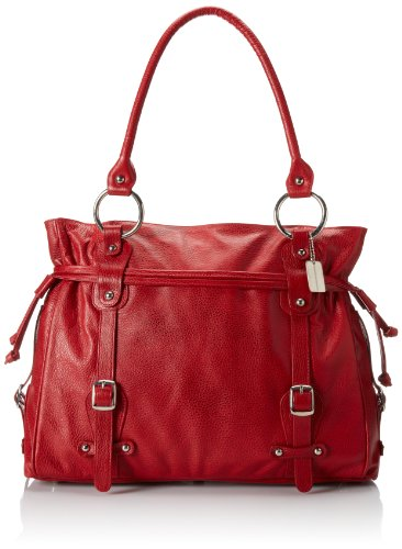 Claire Chase Catalina Computer Handbag, Red, One Size by ClaireChase