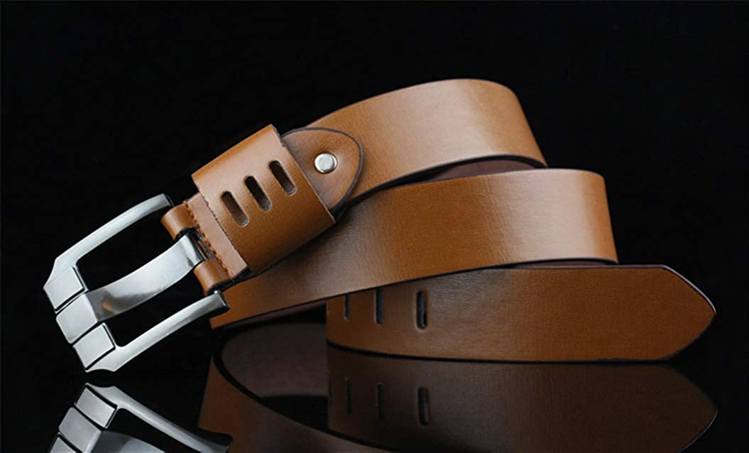 XWBO Mens Casual Genuine Leather Belt Classic Pin Buckle Jeans Dress Pants Belts