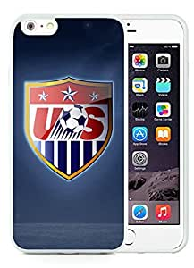 Beautiful Designed Case With USA Soccer 14 White For iPhone 6 Plus 5.5 Inch TPU Phone Case
