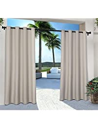 2pc 84 Cloud Grey Color Gazebo Curtains Set Pair, Gray Solid Color Pattern  Rugby Colors
