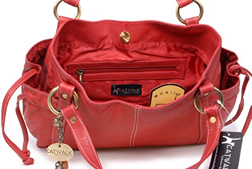 Rosso Borsa spalla pelle in Collection