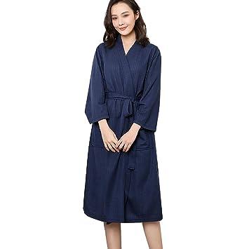 HONGNA Pijamas Hombres Y Mujeres Batas De Baño Sueltas Pijamas Sexy De Gran Tamaño para Hoteles (Color : Blue Male, Tamaño : Metro): Amazon.es: Hogar