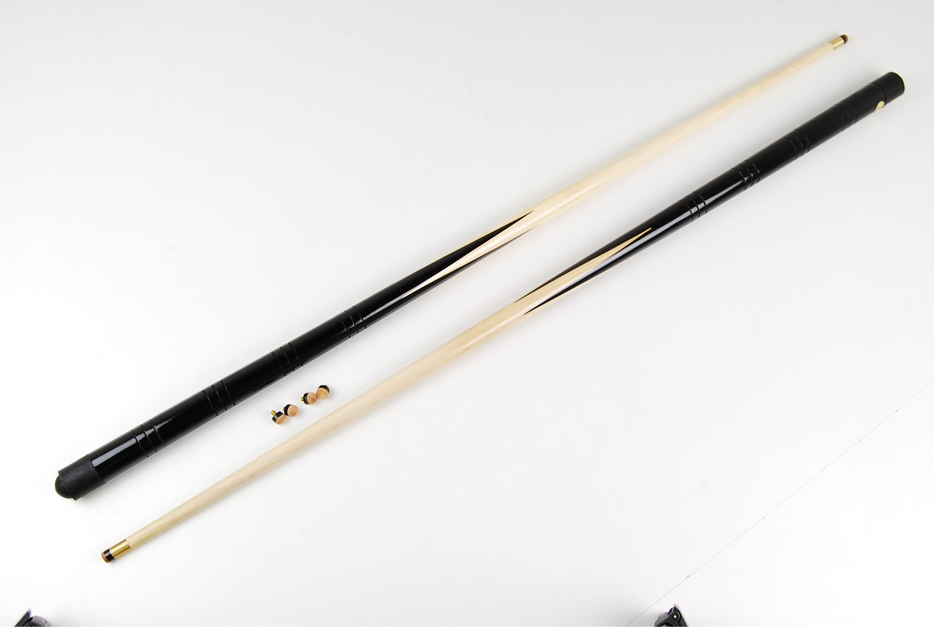 2 small 36 inch pool /snooker cues & 4 x 11mm screw on cue tips by IQ Pool BY SGL