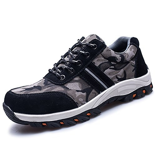Getch Men's Work Safety Shoes S3 Steel Toe Puncture Proof, Lightweight Non-Slip Industrial & Construction Outdoor Casual Breathable Womens Protection Footwear