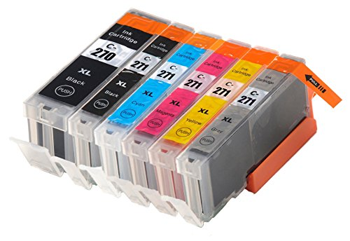 OCProducts Compatible Canon 271 XL and Canon 270 XL Ink Cartridge Replacement for Canon MG7720 Pixma Printers (6 Pack)