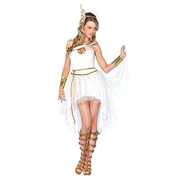 Disfraz de Diosa Griega Atena para Mujer Cosplay Romana Reina Diosa Halloween Carnaval