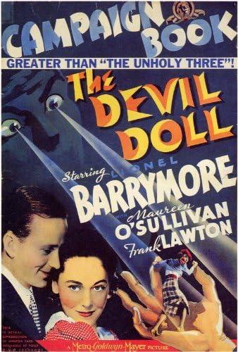 Amazon.com: The Devil Doll Movie Poster (27 x 40 Inches - 69cm x 102cm) ( 1936) -(Lionel Barrymore)(Maureen O'Sullivan)(Frank Lawton)(Rafaela  Ottiano): Prints: Posters & Prints