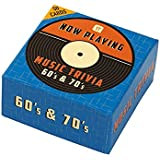 Talking Tables Now Playing 60s and 70s Music Trivia Box Party Game Set, Multicolor