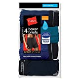 Hanes Men's Sports-Inspired Boxer-Brief Pack of 4 (XX-Large, Assorted Color)