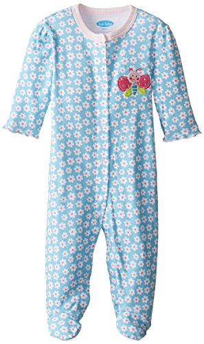 BON BEBE Baby-Girls Newborn Firefly Footed Snap Front Coverall, Multi, 3-6 Months