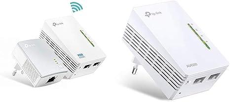 TP-Link TL-WPA4220 Kit-2 Adaptadores de Comunicación por Línea Eléctrica (WiFi AV 600 Mbps, PLC con WiFi, Extensor, Repetidores de Red) + TL-WPA4220-1 Adaptadores de ...