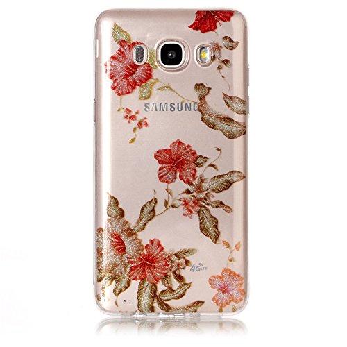 Funda Samsung Galaxy J5 2016,SainCat Moda Alta Calidad suave de TPU Silicona Suave Funda Carcasa Caso Parachoques Diseño pintado Patrón para CarcasasTPU Silicona Flexible Candy Colors Ultra Delgado Li Azalea