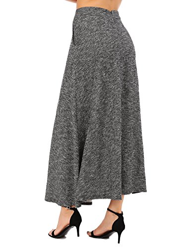 Jupe Noir Longue Taille Femmes Jupe Une vase Ancien Haute aux Hiver Chute Ligne Midi Jupe FISOUL gavnxP0Z