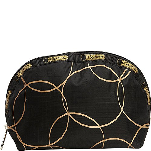 LeSportsac Medium Dome Cosmetic Luggage Accessory Gold Links