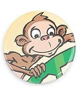 Bravofun Monkey Cute Monkey Image Pin-back Button/ Magnet