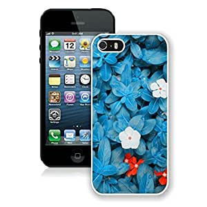 Personalized Case For Iphone 4/4S Cover Case Beautiful Blue Flower White Soft PC Cell Phone Protective Case For Iphone 4/4S Cover