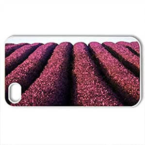 ball on the field of lavender - Case Cover for iPhone 4 and 4s (Fields Series, Watercolor style, White)