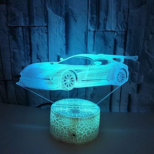 JAYLONG 3D Visual Night Lamp, Creative LED 3W Night Lights For Kids, Race...