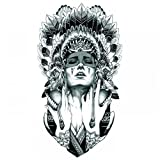 GGSELL Halloween Tattoo for men and women Indian girl temporary tattoo stickers