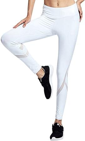ZhuiKun Pantalon Chandal de Malla Mujer Pantalones Deportivos ...
